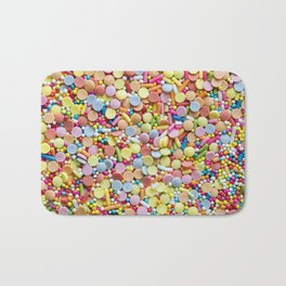 Rainbow Candy Sprinkles Art Bath Mat
