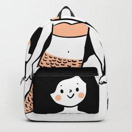 Cute  Retro Mermaid Sisters BFF Backpack