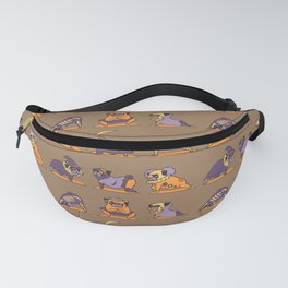 Pug Yoga Halloween Monsters Fanny Pack