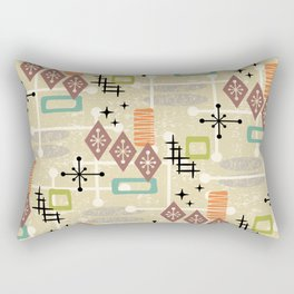 Retro Mid Century Modern Atomic Abstract Pattern 241 Rectangular Pillow