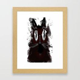 Mister happy cat Framed Art Print