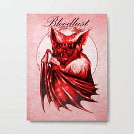 Bloodlust - Red Metal Print