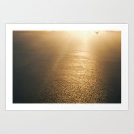 Golden Water Art Print