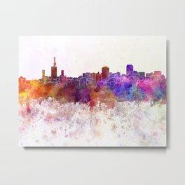 Lagos skyline in watercolor background Metal Print
