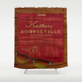 Hadbury Bourneville Wrapper  Shower Curtain