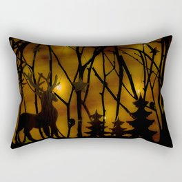 Woodland Scene. Rectangular Pillow