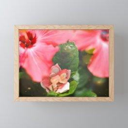 Pink Hibiscus Fairy Framed Mini Art Print