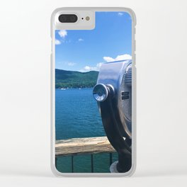 Lake George - view 2 Clear iPhone Case