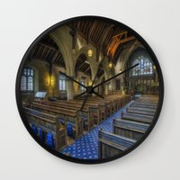 christ Wall Clocks featuring Christ Church by Ian Mitchell