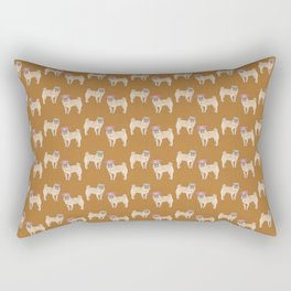 cute little pug dogs girl and boy pattern Rectangular Pillow
