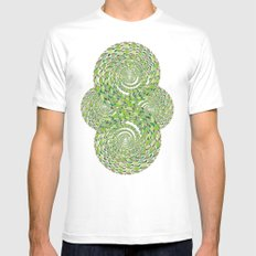 green storm SMALL Mens Fitted Tee White
