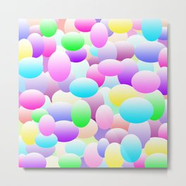 Bubble Eggs Light Metal Print