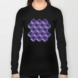 Gaming Cube Pattern Long Sleeve T-shirt
