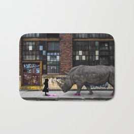 Real Rhinos Wear Pink Bath Mat