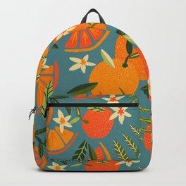 Orange Blooms – Blue Palette Backpack