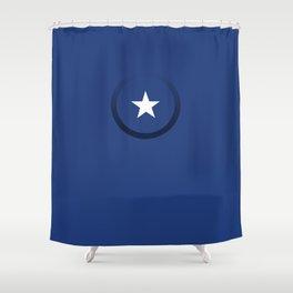 white star 5 Shower Curtain