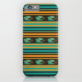 Aztec Mexican Mythological Jaguar Pattern iPhone Case