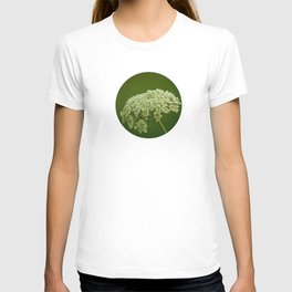 White wild flower T-shirt