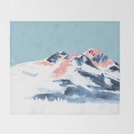 Pink Mountain Throw Blanket