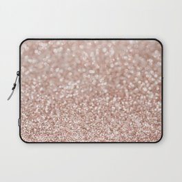 Sparkling Rose Gold Blush Glitter #2 #shiny #decor #art #society6 Laptop Sleeve