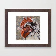 Speckled Rooster Framed Art Print