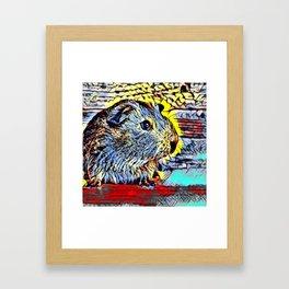 Color Kick - Guinea pig Framed Art Print