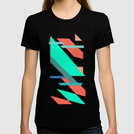 Neon Grapefruit and Electric Mint Shapes T-shirt