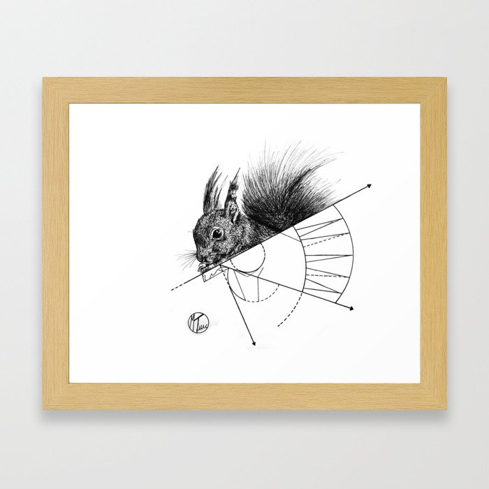 squirrel lines Framed Art Print