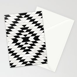 Urban Tribal Pattern No.15 - Aztec - White Concrete Stationery Cards