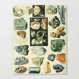 Vintage Minerals Chart Canvas Print