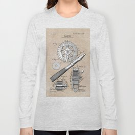 patent art Glocker Fishing reel 1906 Long Sleeve T-shirt