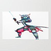 samurai Area & Throw Rugs featuring Samurai by arnedayan