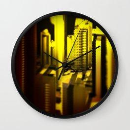 Cityscape at night 2 Wall Clock