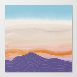 Mixed Media Sunset Canvas Print
