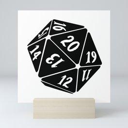 20 Sided Spindown die Mini Art Print