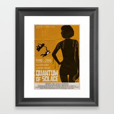 Quantum Of Solace Framed Art Print