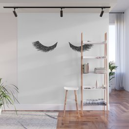 Lashes Black Glitter Mascara Wall Mural
