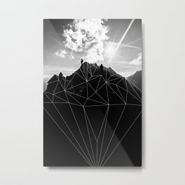 Crystal Mountain II Metal Print