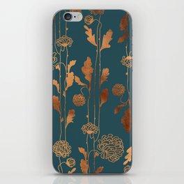 Art Deco Copper Flowers iPhone Skin