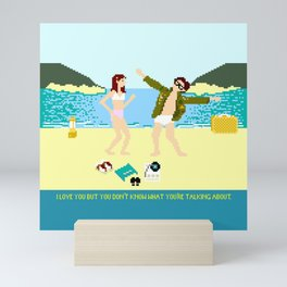 I Love You But Mini Art Print
