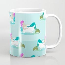 Fancy Colored Hair Style - Relaxed Mermaid in the Bathtub Coffee Mug