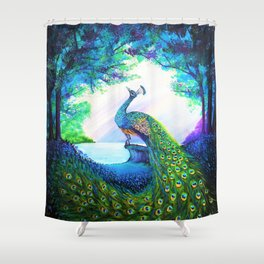 A Majestic Morning Shower Curtain