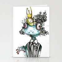 frog Stationery Cards featuring frog by krigkou petroula