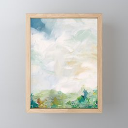 original abstract landscape painting number 15 Framed Mini Art Print