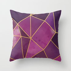 Shattered Tourmaline - Magenta Throw Pillow