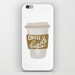 Coffee & Hustle to go iPhone Skin