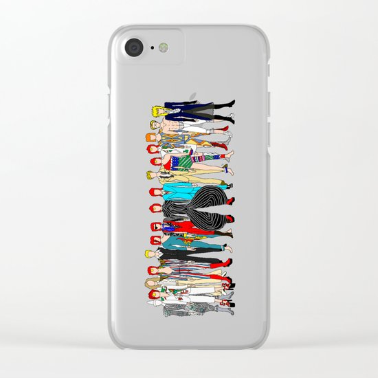 Gray Bowie Group Fashion Outfits Clear iPhone Case