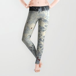 Cool Pollock Rothko Inspired Black White Red Abstract - Corbin Henry Modern Art Leggings