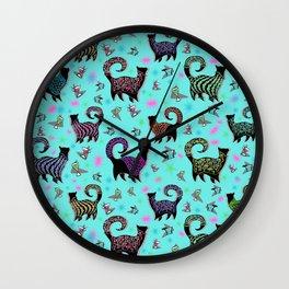 Fabulous Snobby Cats 1 Wall Clock