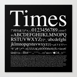 Times (White) Canvas Print